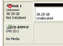 Uninitialised Disk